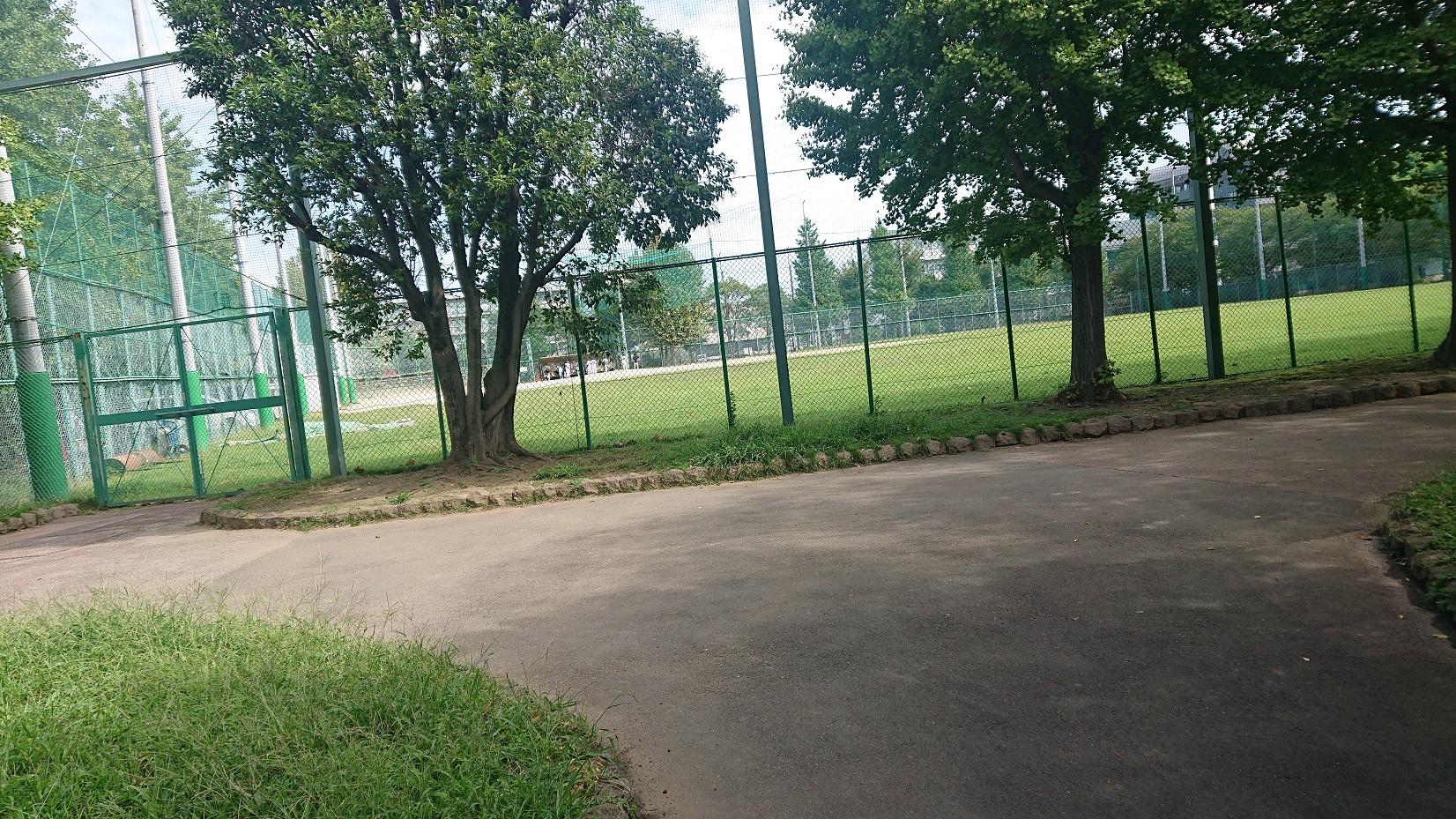 谷中公園の野球場