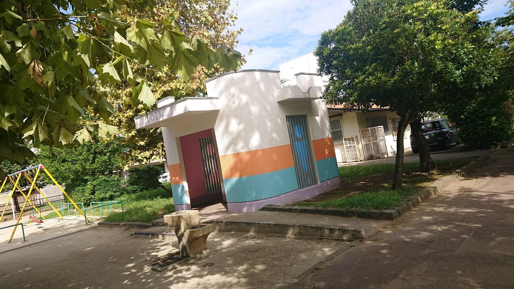 谷中公園のトイレ