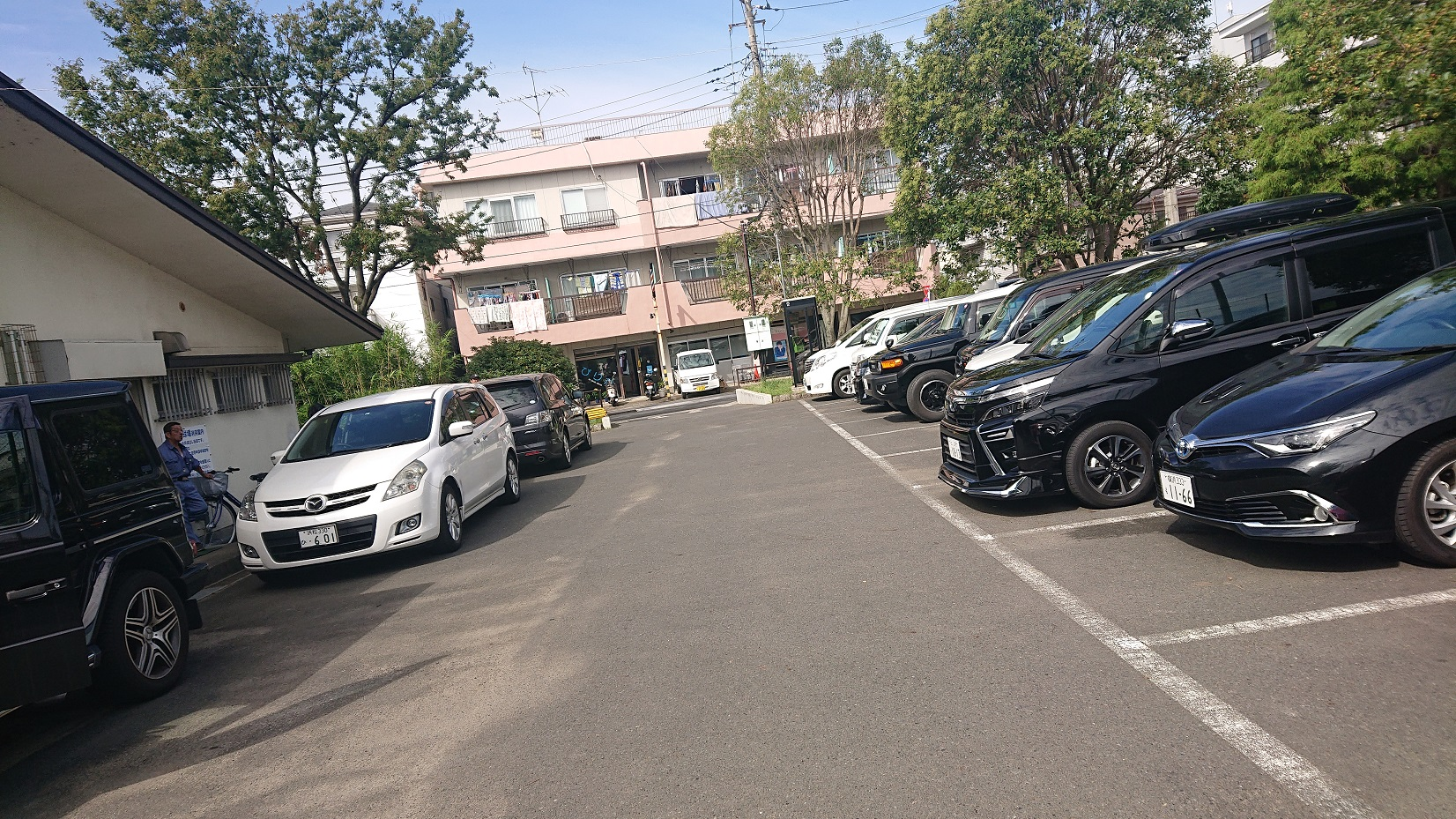 谷中公園の駐車場