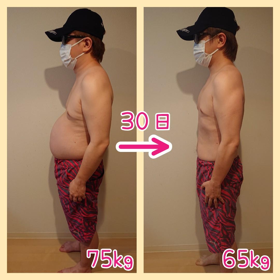 1ヶ月の体重変化(横)