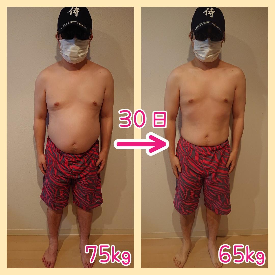 1ヶ月の体重変化(正面)
